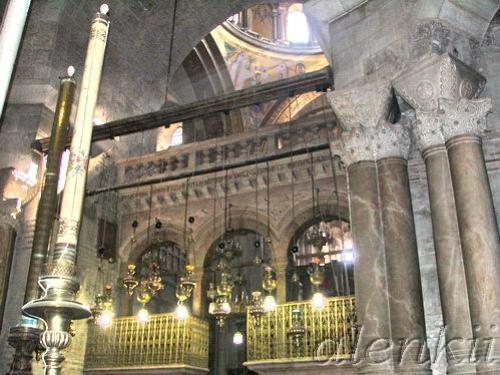 Коптская часовня сзади Святого Гроба Господня