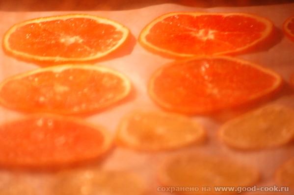 Просто красиво - в процессе фруктовые чипсы из красного апельсина и абхазского лимона
