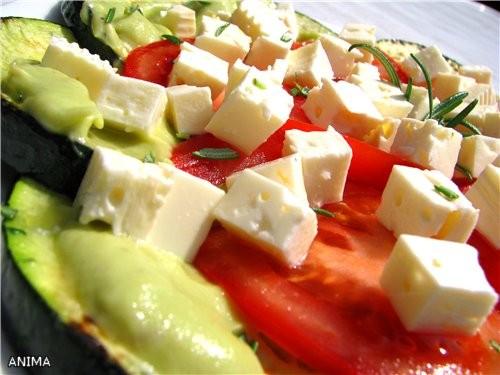 салат из кабачков с сыром фета Пирог-печенье с безе от Иришки джазика
