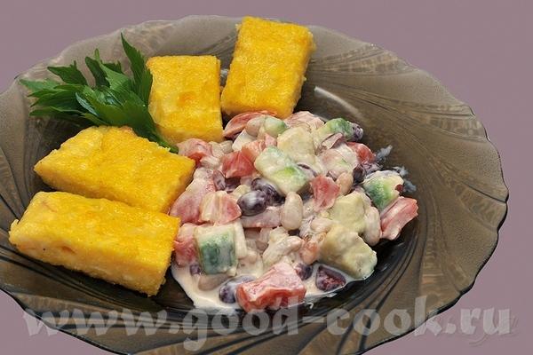 Алисочка СПАСИБО за Поленту с сыром и перцем,с сальсой из бобовых и помидор с авокадо