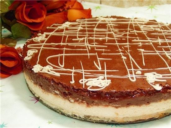 Творожный торт с шоколадным суфле Торт для любителей шоколада