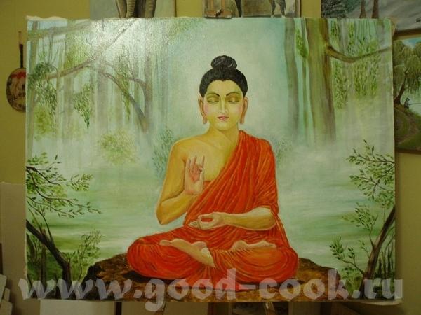 мой Будда Еще незаконченный, но мое терпение уже заканчивается, не могу долго рисовать одну картинк...