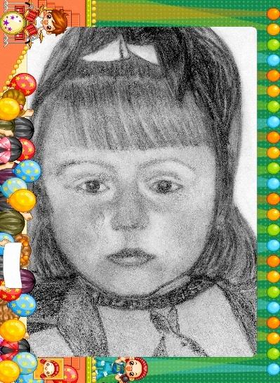 С разрешения Сергея покажу поправки к его портрету дочи