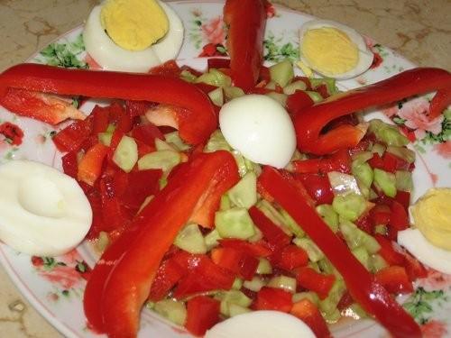 Вика, я тут у тебя Тунисскую кухню пристрою : Курица, запеченная в духовом шкафу Салат из огурцов и... - 3