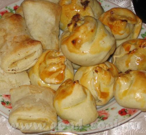 Пирожки с мясом и покупные бурекесы с картошкой - 4