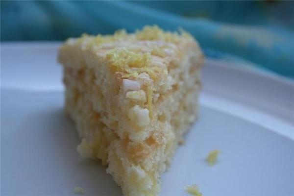Глазированный лимонный пирог с лимонным кремом