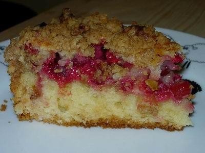 , сделала Ягодный кекс со штрейзелем, учитывая сезон, роль ягод сыграла клюква - 2