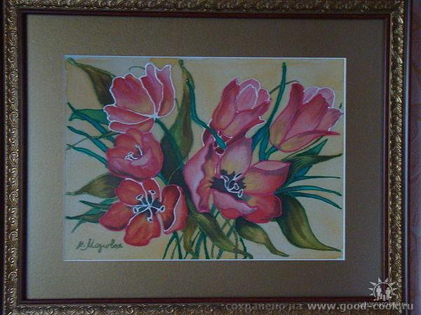 """Холодный батик """"Тюльпаны"""" 2010"""