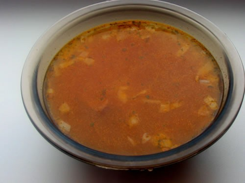 """На ужин мы вчера покушали легко: салатиком Супчик """"Харчо""""-легкий: И кексик (честно даже не знаю чей... - 2"""