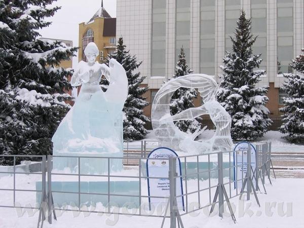 у нас это не конкурс, у нас это просто традиция - ежегодно делать ледяные городки, Сибирь, однако В... - 7