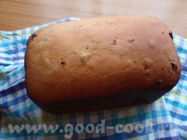 """Пекла """"Сдобный хлеб с изюмом"""" рецепт из инструкции к Мулинекс 2"""