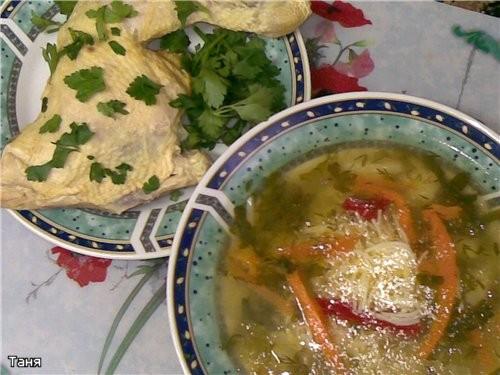 Суп-пюре из брокколи Рыбный суп с клецками и соленым огурцом Борщец наскоро с черносливом Суп с фас... - 6