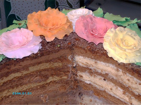 Девочки, моей дочке сегодня исполнилось 16 лет, вот мой торт ко дню рождения - 2
