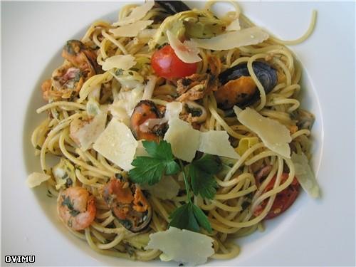 "Сегодня готовил спагетти "" Frutti de Maro "" - 2"