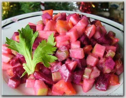 салат из свеклы и хурмы