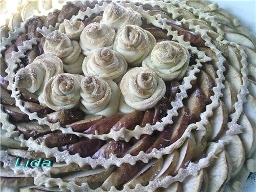 Пирог яблочный Розы - 2