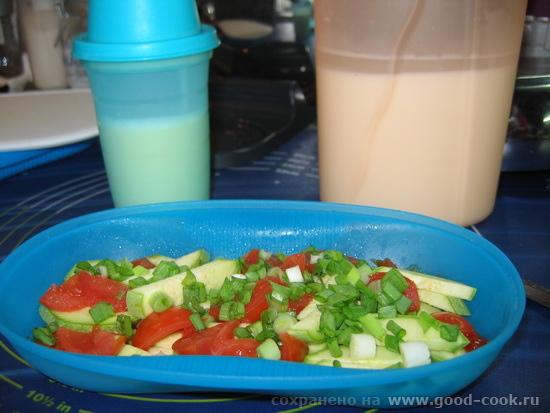 И второй эксперимент: омлет с кабачком брусочками и томатами 1 молодой кабачок (размером со средний огурец) 2-3 томата-ч... - 2