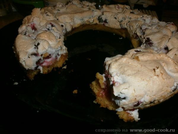Швабский пирог с клюквой