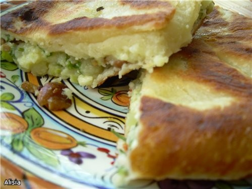Лепешки с сыром и картошкой
