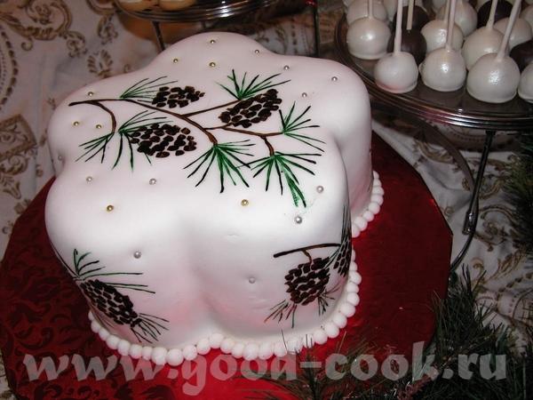 Сегодня поговорим об одной из техник - рисование по торту - 2