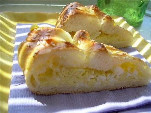 Хачапури с сулугуни и перепелиными яйцами - 3