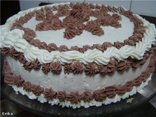 А я вот такой тортик сделала сегодня