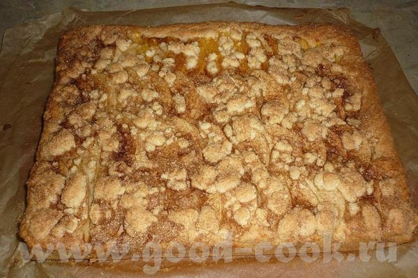 KUCHEN или Песочный пирог с разными начинками, лучше всего со сливами, у меня с яблоками - 3