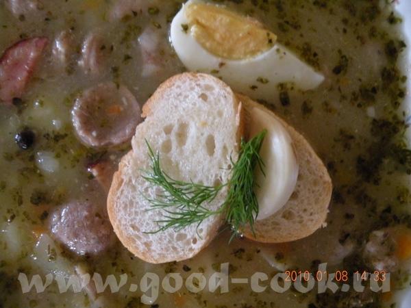 Перекладываем зажарку в суп и вливаем закваску, мешая - 9