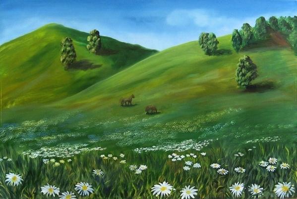 Мои новые пейзажики масло, 50х40 см масло, 60х40 см Белесости на картинах нет, долго редактировала... - 2