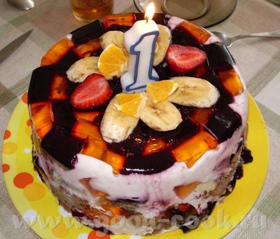 Торт ЭФФЕКТ Этот тортик получается нежирным и очень красивым, разного цвета в зависимости от выбран...