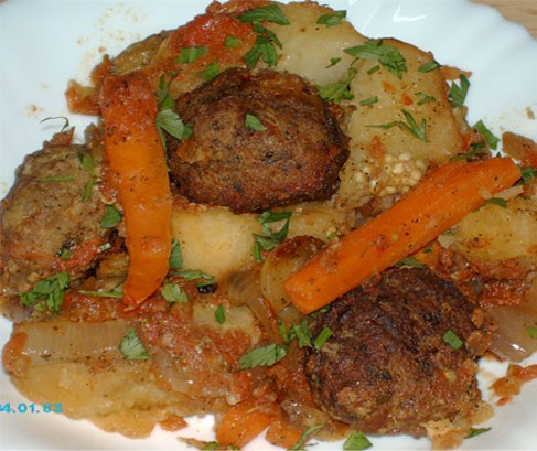 Сегодня у меня на обед Кюфта с овощами в духовке - 3