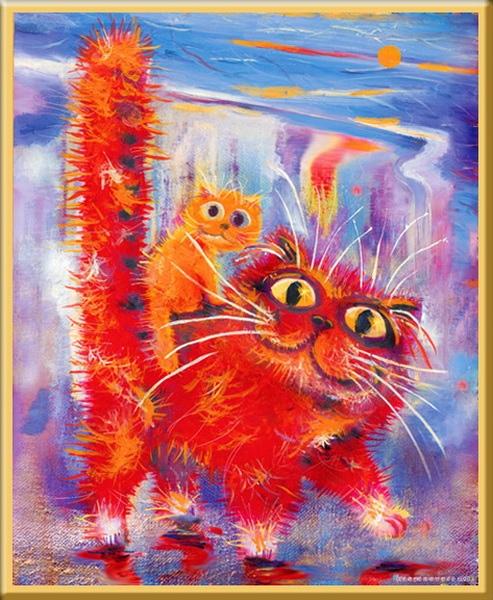 Кто котиков просил,читала все ,чтоб не пропустить,И не догонять,писать сил не было,жара замучила