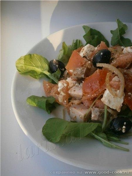 Салат из маринованного лука 1 крупная луковица помидор - 3 шт - 2