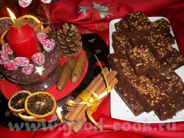 Брауниз с какао и кленовым сиропом Brownies mit Kakao und Ahornsirup Состав для 40 штук: 250г горьк...