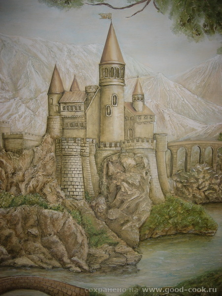 Станый замок. Рисунок на стене.