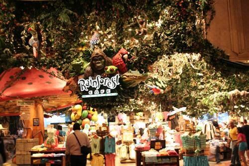 Ириш, то что ты описала - Rainforest cafe - 3
