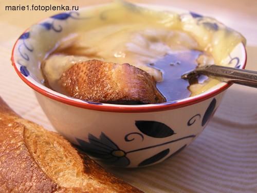 Ели на ужин: Луковый суп, получилось очень вкусно