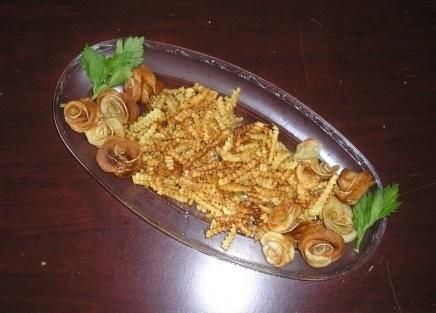 А это картофельные розы, очень эффектный и вкусный гарнир