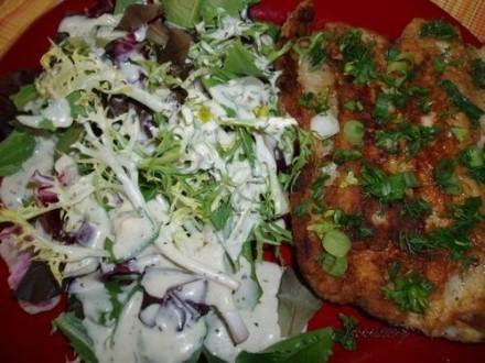 А у нас вчера на обед была жареная форель (назовем ее Батерфляй с чесночком) и салат политый моим с... - 3