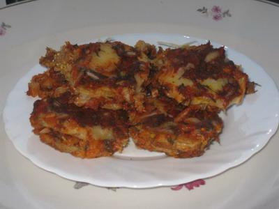 Баклажаны под сыром с томатным соусом