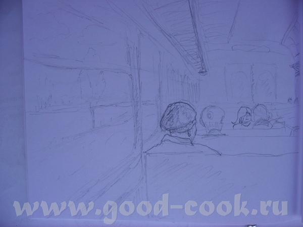 Это делаю в блокноте зарисовки пока еду в электричке: Это по-памяти на пленере: - 3