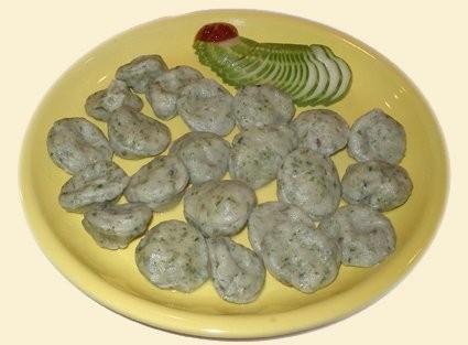 Мраморные равиоли с креветками (пельменное тесто+зелен, вместо фарша - креветка целтком или перемол...
