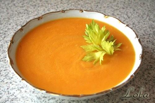 Угощайтесь, сливочный суп-пюре с тыквой и имбирём - картофель - тыква - морковь - лук-порей - имбир...
