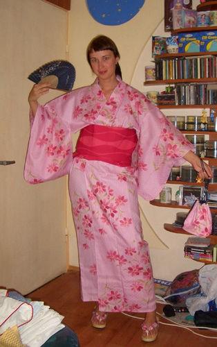 У мя такая большая приятность,друг из Японии прислал в подарок кимоно и шлепанцы мне и моему другу... - 3