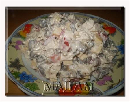 """Салат """" Каприз"""" 2 куриные грудки ( филе) 500 гр"""