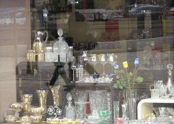 Это витрина магазина с богемским хрусталем, я никогда мимо не хожу