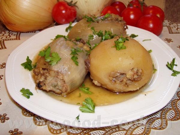 Картофельно-мясные корзиночки с грибами Бараньи стейки с луком и зеленью Картофель и лук,фарширован... - 3