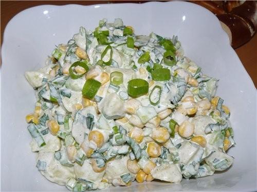 Собиралась делать Катрофельный салат для пикника от , но не было яиц, на улице дождь, так что замен...