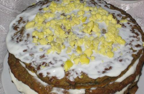 А я еще с одним отчетом, брат праздновал день рождения, готовила как всегда я : Печеночный тортик (...