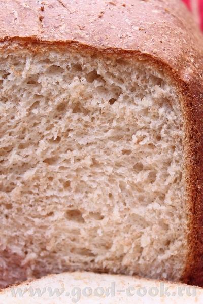 Вот он обещанный хлебушек с молотой пшеницей и домашнем молоке
